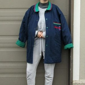 Oversized Navy/Green Coat